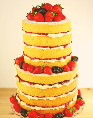 A Naked Wedding Cake