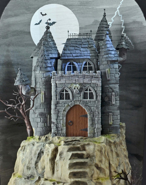 Spooky Haunted Castle Cake